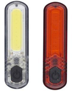Abus Genopladelige USB Cykellygter Til For- og Bag